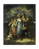 The Flower Gatherers, 1873 Giclee Print by Narcisse Virgile Diaz de la Pena