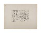 Prayer in Stonewall Jackson's Tent, C.1880-90 Giclee Print by Adalbert John Volck
