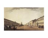 Nevsky Prospekt, 1799 Giclee Print by Benjamin Patersson