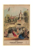 Galop. Showing the Royal Horticultural Society Garden Created to Coincide with the 1862 Exhibition Giclee Print by Alfred Concanen
