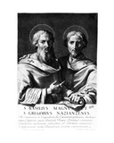 Saint Basil the Great and Saint Gregory of Nazianzus, Print Made by Gerard Edelinck Giclee Print by Jean Baptiste de Champaigne