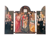 Triptych: the Raising of Lazarus on the Central Compartment with a Kneeling Male Donor, Presented… Giclee Print by Frans I Pourbus