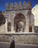 Gate in the Old City Walls, Jerusalem, Israel Photographic Print