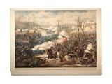 Battle of Pea Ridge, Ark, 1889 Giclee Print by  Kurz And Allison