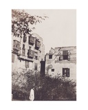 Cairo, House and Garden in the French Quarter, with Gustave Flaubert, 1850 Giclee Print by Maxime Du Camp