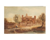 Country Scene - House by a Pond Giclee Print by David Cox