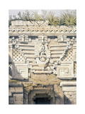 Ornament over Principal Doorway at Casa Del Gobernador, from 'Views of Ancient Monuments in… Giclee Print by Frederick Catherwood