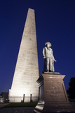 The Needle on Bunker Hill Monument at Dusk, Boston, Usa Photographic Print