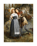 Rosalind and Celia, C.1870 Giclee Print by Valentine Walter Lewis Bromley
