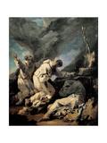 Praying Monks Giclée-tryk af Alessandro Magnasco