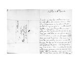Letter to His Sister, Marie, at La Ferté-Milon Giclee Print by Jean Racine
