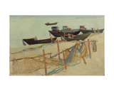 Fishing Boats in Klaipeda, Baltic Sea, 1960s Giclee Print by Svetlana Ryazanova