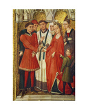 Redemption Triptych: Sacrament of Marriage, from the Series of Small Images Portraying the… Giclee Print by Vrancke Van der stockt