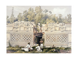 Ornament over the Gateway of the Great Teocallis, from 'Views of Ancient Monuments in Central… Giclee Print by Frederick Catherwood