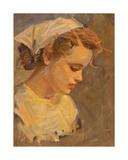 Portrait of a Female Worker, 1950s Giclee Print by Konstantin Lekomtsev