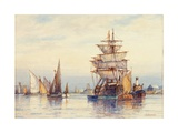 On the Thames Giclee Print by Frederick James Aldridge