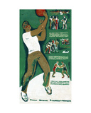 Basketball Players, C.1970s Giclee Print by Vadim Petrovich Volikov