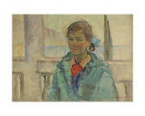 Portrait of a Girl in Gurzuf, 1970s Giclee Print by Konstantin Lekomtsev