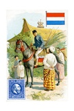 Postman Delivering a Letter in the Dutch East Indies, Late 19th Century Giclee Print