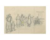 Kindergarten, 1930s Giclee Print by Natalia Aleksandrovna Gippius