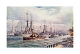 The Naval Review at Spithead Giclee Print by  English School