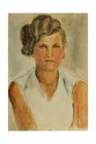 Galya, Trainee in the Kolkhoz, 1930s Giclee Print by Natalia Aleksandrovna Gippius