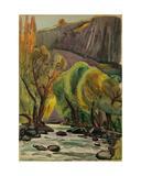 Southern Landscape, 1960s Giclee Print by Svetlana Ryazanova