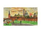 The Moscow Kremlin, 1970s Giclee Print by Natalia Aleksandrovna Gippius