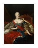 Portrait of Johanna-Elizabeth, Electress of Anhalt-Zerbst, C.1746 Giclee Print by Antoine Pesne