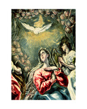 The Immaculate Conception, 1607-13 (Detail) Giclee Print by  El Greco