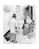 Unhappy and Unsuccessful Artist Who Has Been Trying to Sell His Work, Tells His Wife That the… Giclee Print by Jean Louis Forain