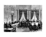 Bismarck Opening the Congress of Berlin on 13 June, 1878 Giclee Print by Pierre Emile Tilly