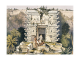 Gateway of the Great Teocallis, from 'Views of Ancient Monuments in Central America, Chiapas and… Giclee Print by Frederick Catherwood