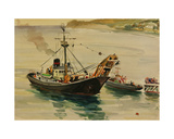 Trawler on the Black Sea, 1960s Giclee Print by Svetlana Ryazanova