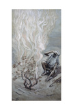 Moses Adores God in the Burning Bush James Tissot (1836-1902 French) Jewish Museum, New York Giclee Print by James Tissot