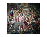 Constantine's Vision of the Cross, from the Sala Di Costantino, Raphael Rooms Giclee Print by  Raphael