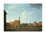 View of the Piazza Della Signoria, Florence Giclee Print by Thomas Patch