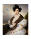 Portrait of Marie-Josephine Lafont-Porcher Giclee Print by Francois Josephe Kinsoen