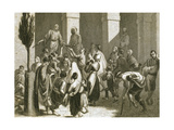 Friars of the Convent of Saint Madrona Distributing Soup to the Poor Giclee Print