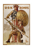World War I (1914-1918). Poster 'Usa Bonds Third Liberty Loan Campaign'. Boy Scouts of America… Giclee Print by Joseph Christian Leyendecker