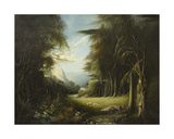 Diana Asleep in a Woodland Glade Giclee Print