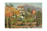 Crimean Village, 1960s Giclee Print by Svetlana Ryazanova