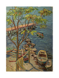 By the Pier in Gurzuf, 1960s Giclee Print by Svetlana Ryazanova