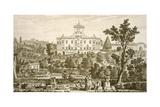 Villa Ricci at Pozzolatico Giclee Print by Giuseppe Zocchi