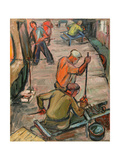 Glass Blowers' Workshop, Lvov (Lviv), 1960s Giclee Print by Svetlana Ryazanova