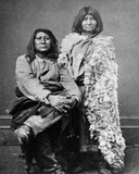 Se-Go-Witz and His Bride in Her Rabbit Skin Robes, C.1880 Photographic Print by Charles Roscoe Savage