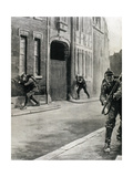 World War I (1914-1918). German Troops Entering in Liege Giclee Print