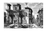 View of the Remains of the Forum of Nerva, from the 'Views of Rome' Series, 1758 Giclee Print by Giovanni Battista Piranesi