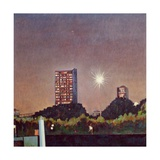 Our Modern Moon Giclee Print by Noel Paine