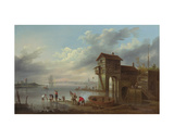 A View of the Sluice House at Liverpool Giclee Print by John Pennington